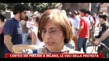 Corteo dei precari a Milano, le voci della protesta