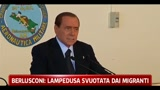 Berlusconi, Lampedusa svuotata dai migranti