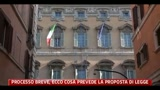 Processo breve, ecco cosa prevede la proposta di legge