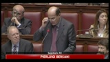 Pier Luigi Bersani durante il suo intervento in Parlamento