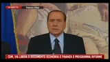Berlusconi introduce il documento di economia e finanza