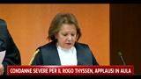 Condanne severe per il rogo Thyssen, applausi in aula