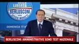 Berlusconi: amministrative sono test nazionale