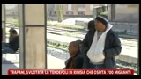 17/04/2011 - Trapani, svuotata la tendopoli di Kinsia ch ospita 700 immigranti