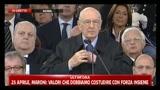 25 Aprile discorso di Giorgio Napolitano