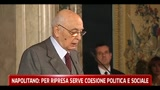 30/04/2011 - Napolitano, per ripresa serve coesione politica e sociale