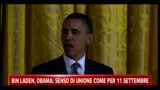 Bin Laden, Obama: senso di unione come per 11 Settembre