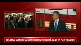 05/05/2011 - Obama in visita ai vigili del fuoco: noi non dimenticheremo mai