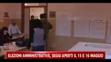 Elezioni amministrative, seggi aperti il 15 e 16 maggio