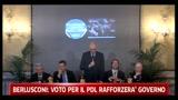 Berlusconi: voto per il pdl rafforzerà governo