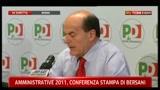 2- Conferenza stampa Bersani sulle amministrative 2011