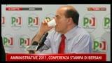 4- Conferenza stampa Bersani sulle amministrative 2011