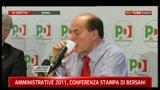5- Conferenza stampa Bersani sulle amministrative 2011
