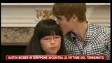 Justin Bieber in Giappone incontra alcuni superstiti del terremoto