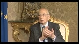Napolitano agli atronauti dell'ISS- la salvaguardia dell'amibiente  una priorit