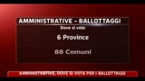 Amministrative, dove si vota per i ballottaggi