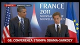 G8, conferenza stampa Obama-Sarkozy