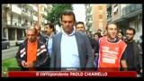 27/05/2011 - Napoli, incendio nel comitato elettorale Lettieri