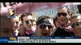 29/05/2011 - Coppa Italia, i tifosi del Palermo invadono Roma