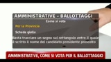 Amministrative, come si vota per il ballottaggio