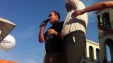 30/05/2011 - Milano, Elio e Mangoni sul palco di Piazza Duomo