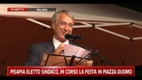 Pisapia eletto sindaco, in corso la festa in piazza Duomo