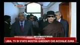 Libia, la TV di Stato mostra Gheddafi che accoglie Zuma
