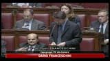 Franceschini in aula alla Camera: Berlusconi si dimetta