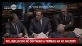 PDL, Berlusconi: no contrario a primarie ma no infiltrati