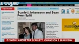 E' finito l' amore tra Scarlett Johansson e Sean Penn