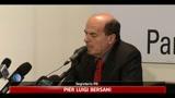 PD, Bersani: si apra fase nuova, Berlusconi si dimetta