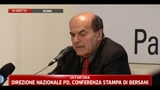 Conferenza stampa del segretario PD Bersani