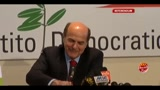 Referendum 2011, conferenza stampa Pier Luigi Bersani
