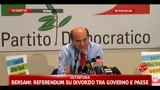 13/06/2011 - Referendum 2011, Bersani: risultato si deve anche a Internet