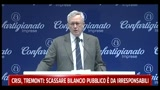 Crisi, Tremonti: scassare bilancio pubblico  da irresponsabili