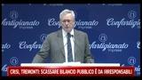 Crisi, Tremonti: scassare bilancio pubblico è da irresponsabili