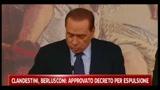 Clandestini, Berlusconi: approvato decreto per espulsione
