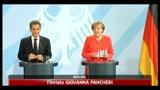 Piano aiuti Grecia, Merkel e Sarkozy chiedono tempi brevi