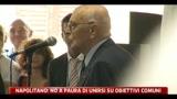 Napolitano: no a paura di unirsi su obiettivi comuni