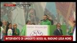 Intervento di Umberto Bossi a Pontida