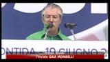 Pontida, Bossi detta la nuova linea politica