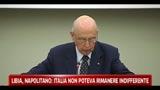 Libia, Napolitano: nostro impegno restare schierati
