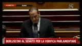 1 - Berlusconi al Senato per la verifica parlamentare