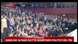 3 - Nomina Alfano segretario PDL: serve nuovo inizio per il partito