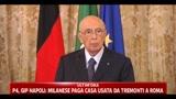 Napolitano: stiamo discutendo per abbassare il costo delle missioni militari