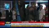 11/07/2011 - Napoli, le nuove maglie e Inler su una nave da crociera