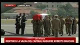 Rientrata in Italia la salma del Caporal Maggiore Roberto Marchini