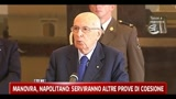 Manovra, Napolitano: serviranno altre prove di coesione