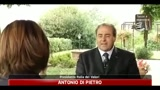 Manovra, Di Pietro, toglie ai poveri per dare alle cricche