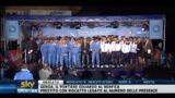 19/07/2011 - Napoli, Inler canta o' surdato nnammurato